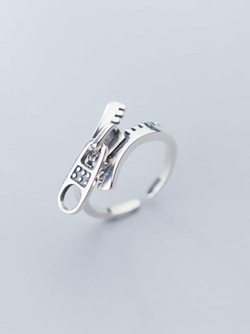 Rosh 925 Sterling Silver Irregular Vintage Free Size Ring