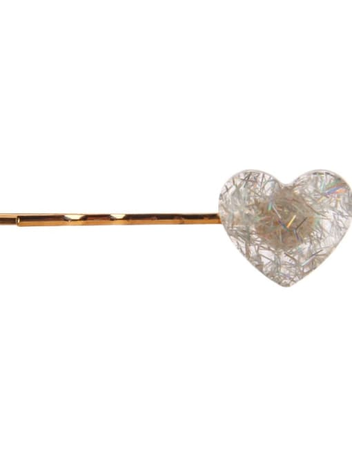 Chimera Alloy Cellulose Acetate Minimalist Heart Hair Pin 2
