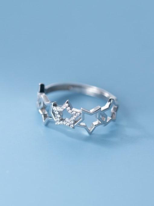 Rosh 925 Sterling Silver Cubic Zirconia Irregular Hip Hop Band Ring 2