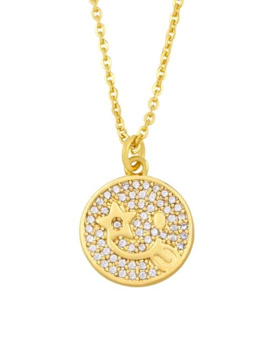 A Brass Cubic Zirconia Star Vintage Necklace