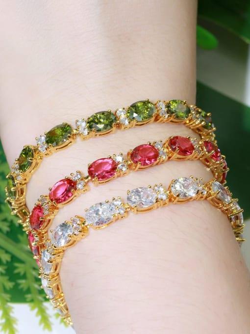 L.WIN Brass Cubic Zirconia Geometric Classic Bracelet 1