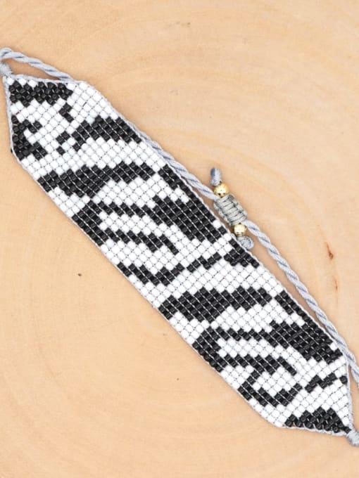 MG B200037B Multi Color MGB Bead Geometric Bohemia Adjustable Bracelet