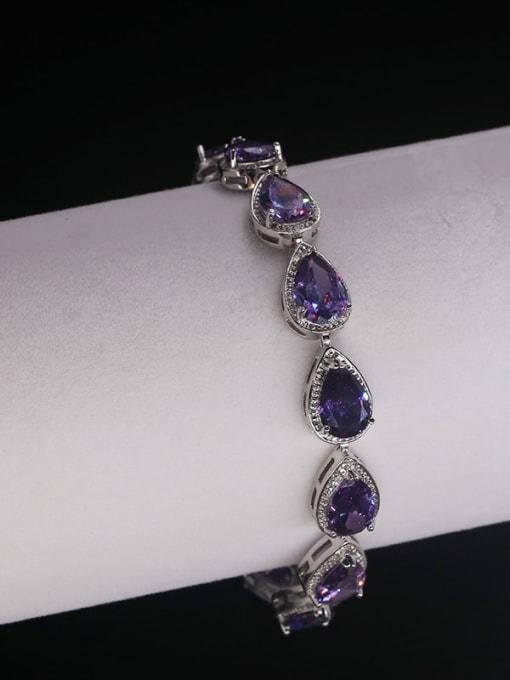 DUDU Brass Cubic Zirconia Water Drop Luxury Bracelet 2