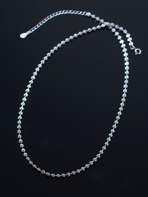 Rosh 925 Sterling Silver Round Minimalist Beaded Necklace 2