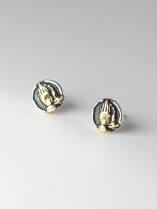 Rosh 925 Sterling Silver Irregular Vintage Stud Earring 0