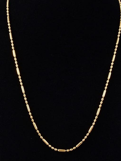 A TEEM Titanium Steel Smooth Round Vintage Necklace 0