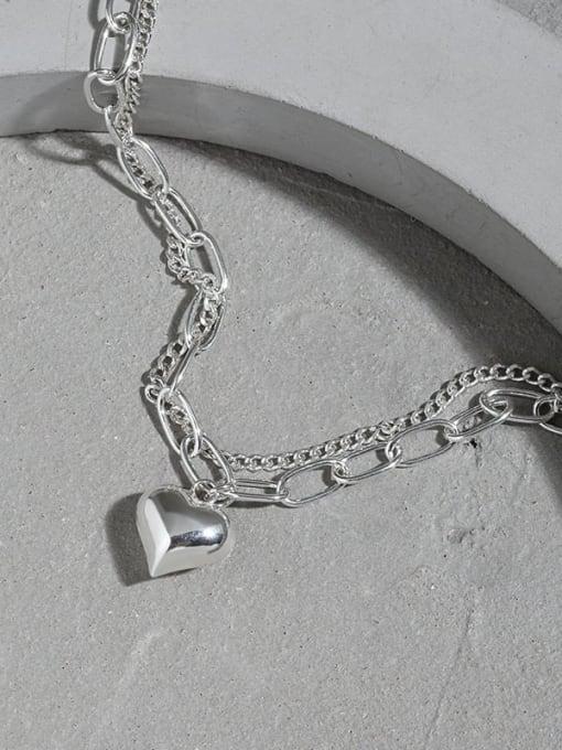 DAKA 925 Sterling Silver Heart Vintage Strand Bracelet 1