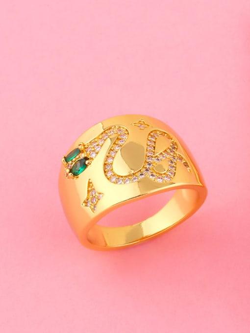CC Copper Rhinestone Snake Vintage Ring 4