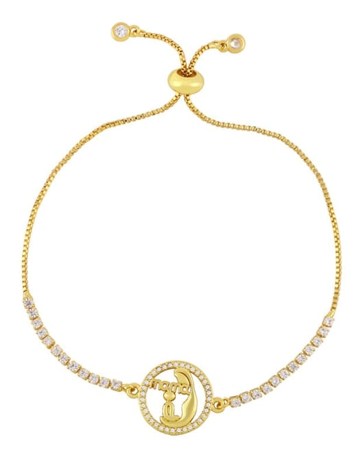 CC Brass Cubic Zirconia Heart Vintage Link Bracelet 4