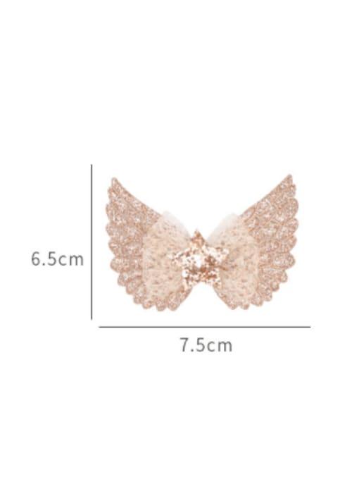 YOKI KIDS Alloy  Silk Cute Butterfly Multi Color Hair Barrette 3