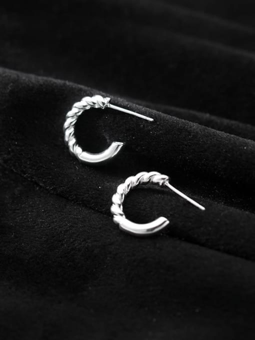 Rosh 925 Sterling Silver Geometric Minimalist Stud Earring 4