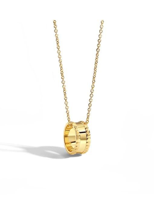 CHARME Brass Rhinestone Geometric Minimalist Necklace 0