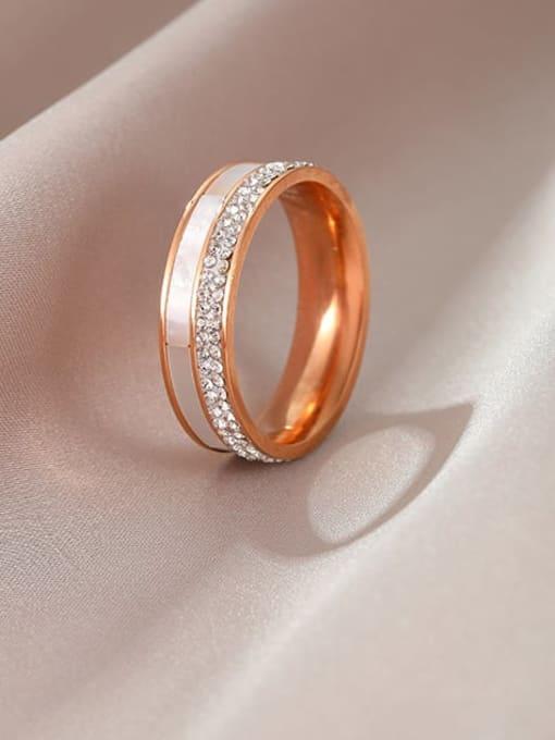 MIYA Titanium Steel Shell Round Minimalist Band Ring 0