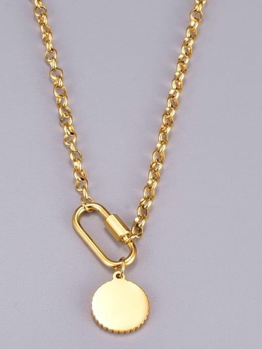 A TEEM Titanium Steel Round Vintage Necklace 2