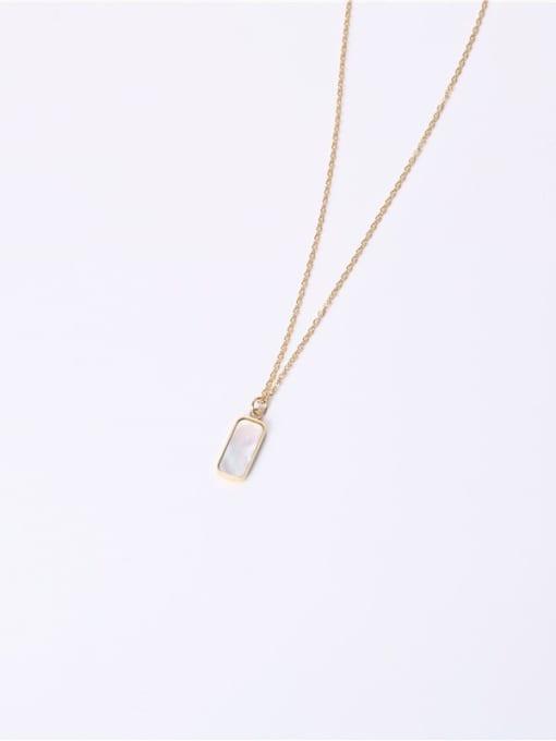 GROSE Titanium Steel Shell Geometric Minimalist Necklace 1