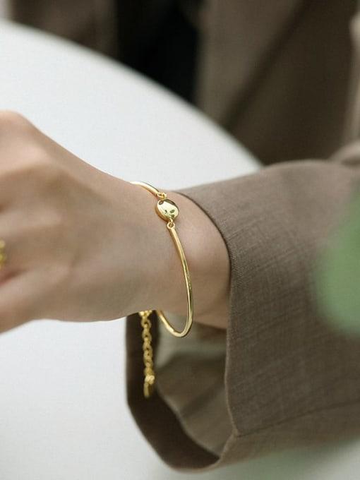 DAKA 925 Sterling Silver Geometric Minimalist Adjustable Bracelet 2
