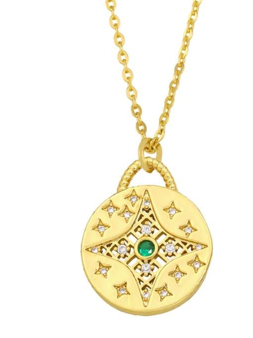 B Brass Cubic Zirconia Geometric Minimalist Necklace