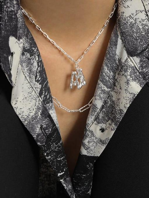 DAKA 925 Sterling Silver Letter Minimalist Necklace 3