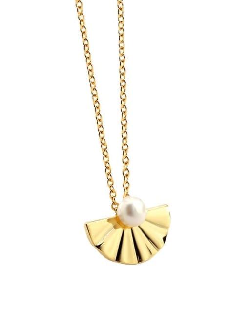 CHARME Brass Imitation Pearl Irregular Vintage Necklace 4