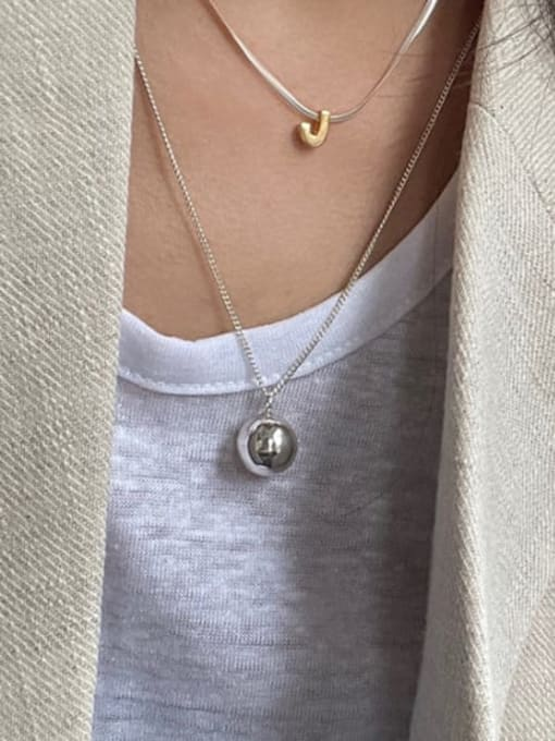 Boomer Cat 925 Sterling Silver  Smooth Bell Minimalist Necklace 2