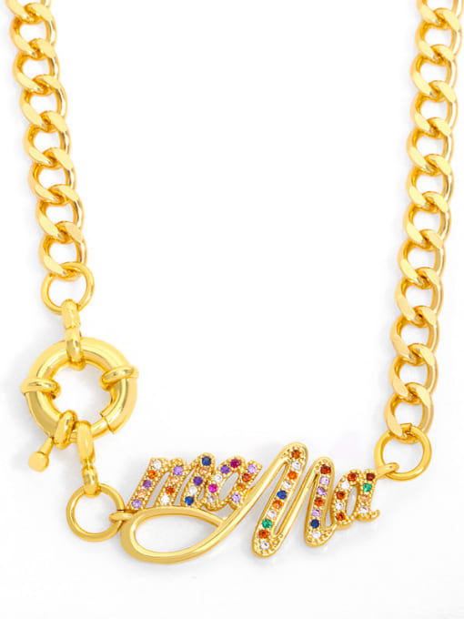 CC Brass Cubic Zirconia  Hip Hop Letter Pendant Necklace 4