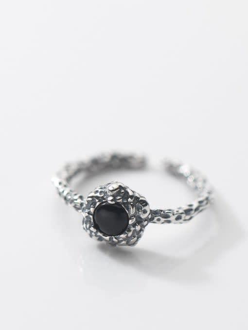 Rosh 925 Sterling Silver Carnelian Geometric Vintage Band Ring 2