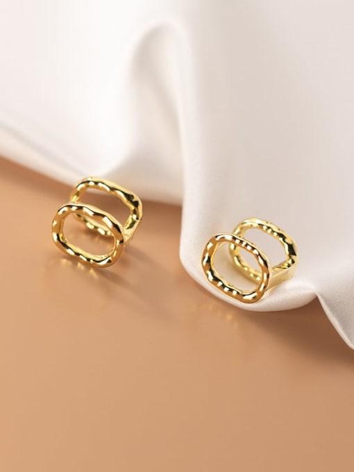 Rosh 925 Sterling Silver Geometric Minimalist Clip Earring 1