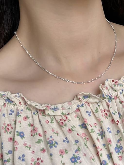 Boomer Cat 925 Sterling Silver Irregular Minimalist Cable Chain 3