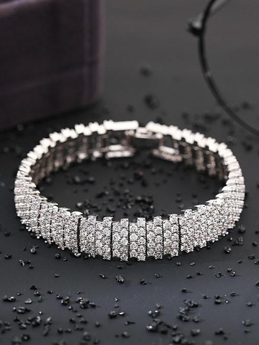 DUDU Brass Cubic Zirconia Geometric Luxury Bracelet 2