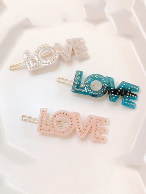 Chimera Alloy  Cellulose Acetate Minimalist Letter Hair Pin 1