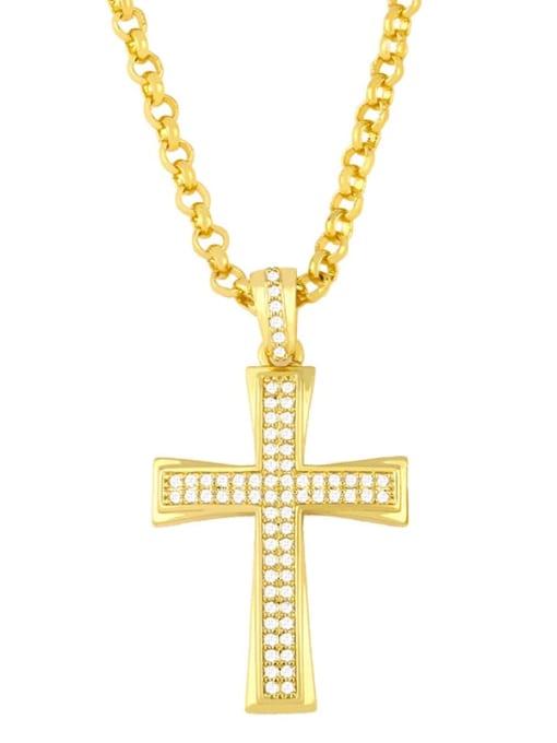 CC Copper Cubic Zirconia Cross Vintage Regligious  pendant 1