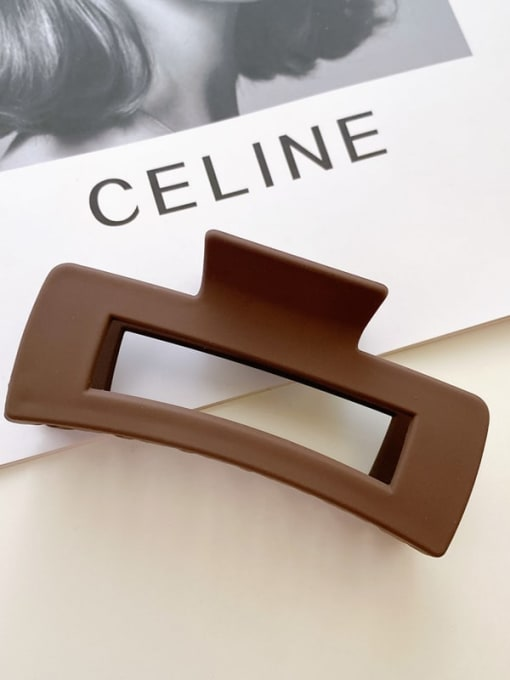 PS frosted dark brown 10.5cm Alloy Resin  Minimalist Geometric Jaw Hair Claw