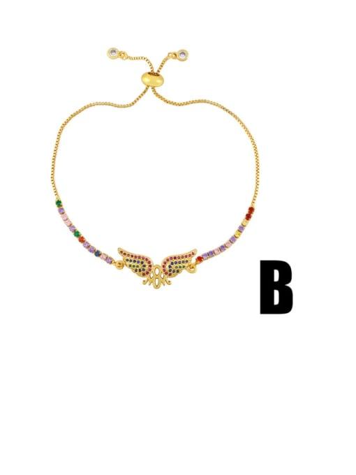 CC Brass Cubic Zirconia Letter Vintage Bracelet 2