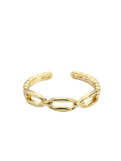 CHARME Brass Cubic Zirconia Geometric Vintage Band Ring 4