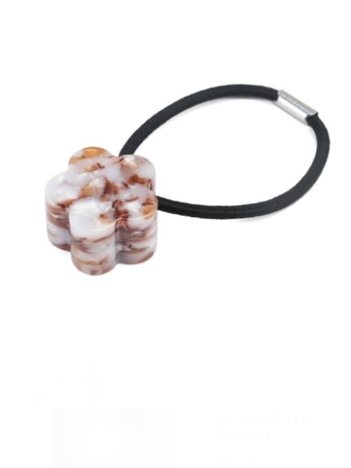 Brownish white Cellulose Acetate Minimalist Flower Hair Rope