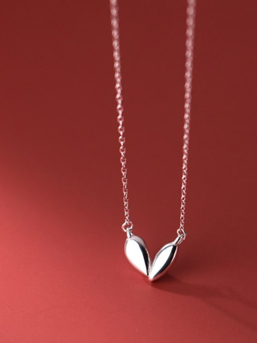 Rosh 925 Sterling Silver Heart Minimalist Necklace