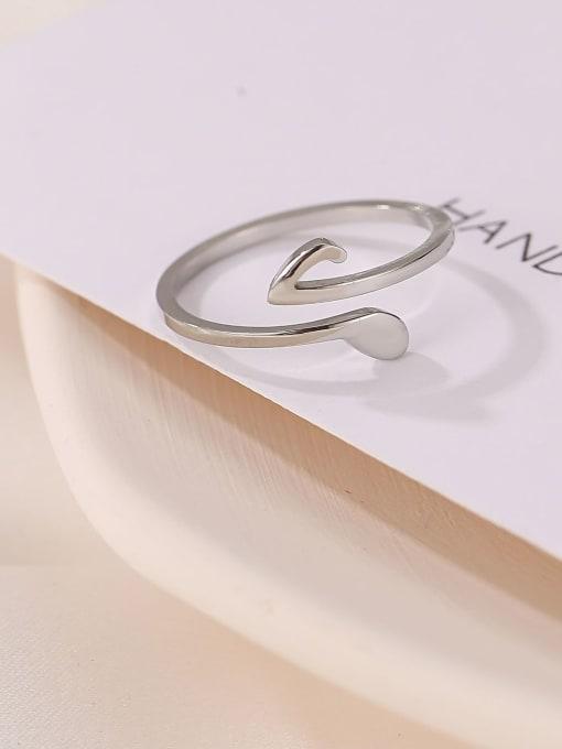 MIYA Titanium Steel Irregular Minimalist Band Ring 1