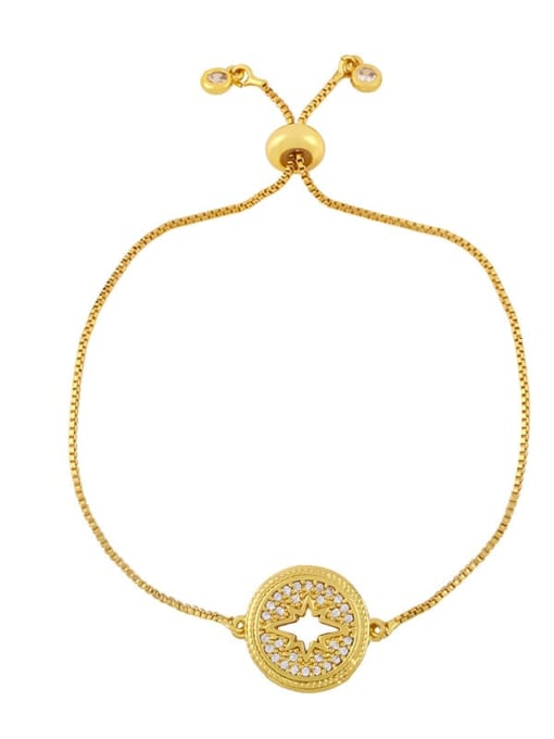 CC Brass Cubic Zirconia Geometric Hip Hop Adjustable Bracelet 3