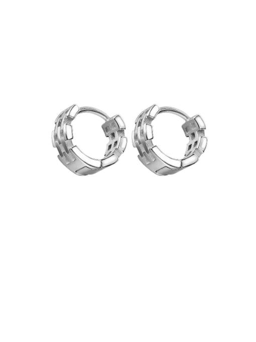 Open Sky Titanium Steel Geometric Hip Hop Huggie Earring 0