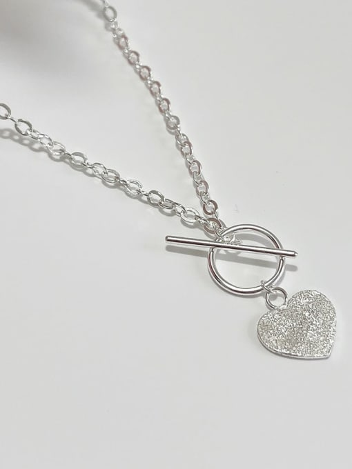Boomer Cat 925 Sterling Silver Heart Vintage Necklace 2