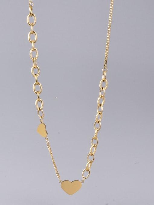 A TEEM Titanium Steel Heart Minimalist Necklace 2