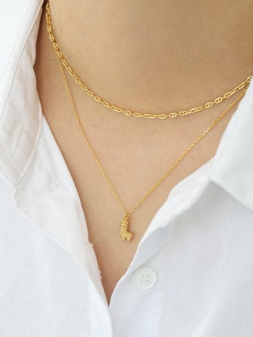 Dak Phoenix 925 Sterling Silver Hollow Geometric Minimalist Chain Necklace 3