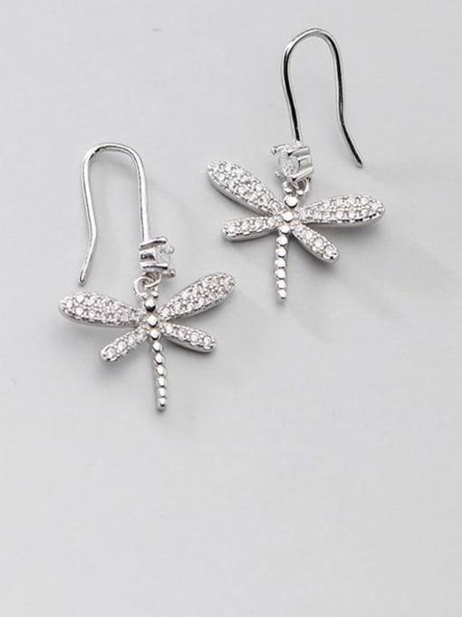 Rosh 925 Sterling Silver Butterfly Dainty Hook Earring 1