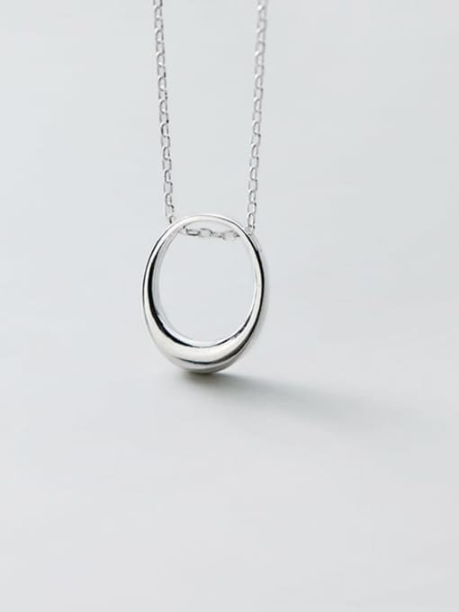 Rosh 925 Sterling Silver  Hollow Geometric Minimalist Necklace 1