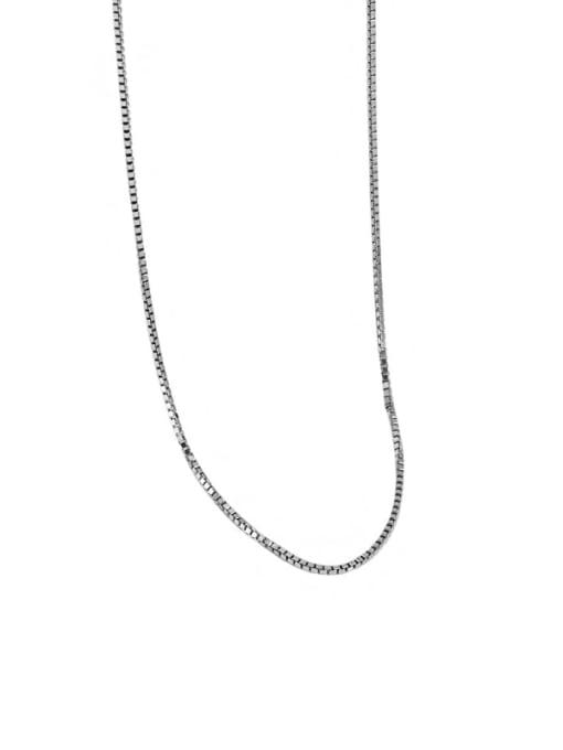 Platinum 925 Sterling Silver Irregular Minimalist Necklace