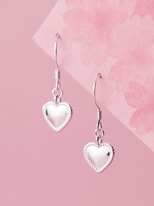 Rosh 925 Sterling Silver Heart Minimalist Hook Earring 2