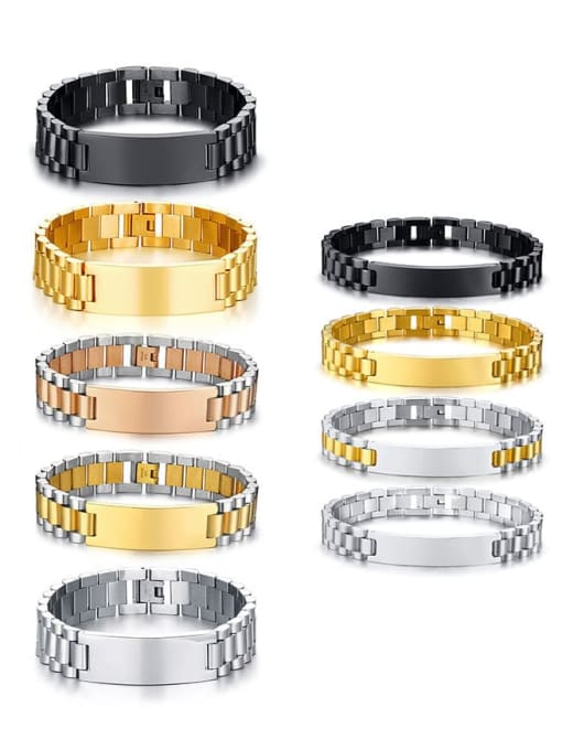CONG Stainless steel Geometric Vintage Link Bracelet