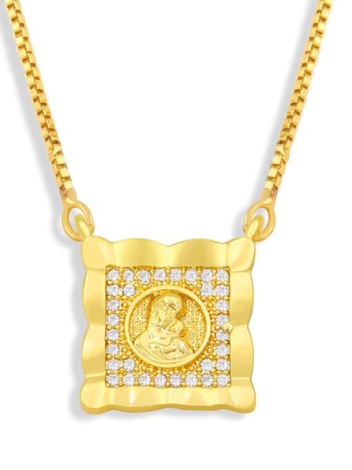 CC Brass Cubic Zirconia Religious Vintage Necklace 3