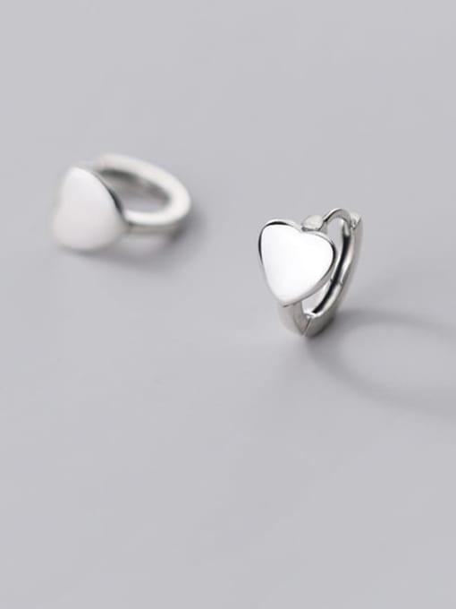 Rosh 925 Sterling Silver Heart Minimalist Stud Earring