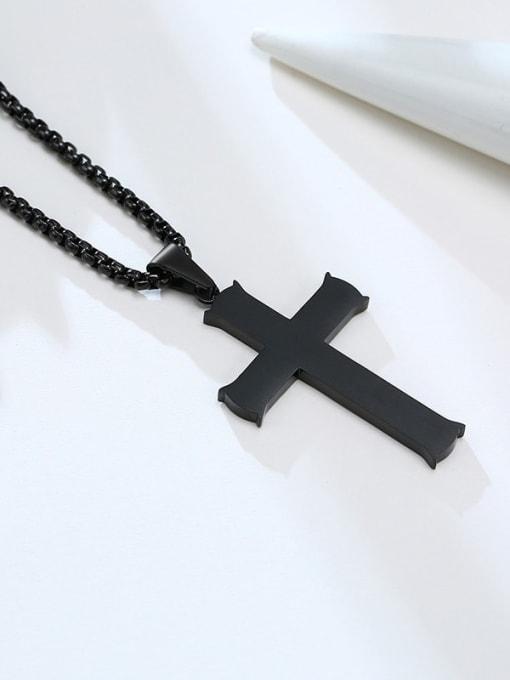 CONG Titanium Steel Cross Minimalist Necklace 0